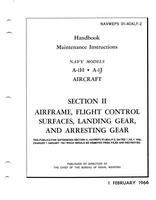 Navweps 01-40ALF-2 Handbook Maintenance Instructions A-1H - A-1J - Section I I - Airframe, Flight Control, Surfaces, Landing gear