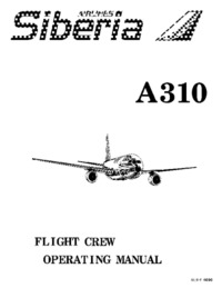 Siberia Airlines A310 Flight Crew Operating Manual