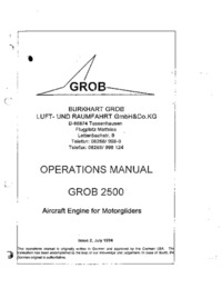 Grob 2500 Aircraft Engine for Motorgliders