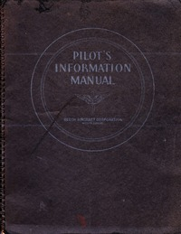 AT-7, C-45B, SMB-2 Airplane Pilot Information Manual