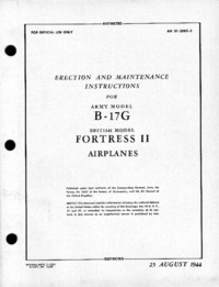 AN 01-20EG-2 Erection ad maintenance instructions for B-17G - Part 1/2
