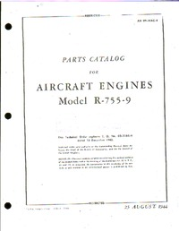 AN 02-30-AC4 - Parts Catalog for Aircraft Engines Model R-755-9