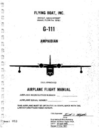 Airplane Flight Manual G-111 Amphibian