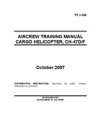 TC 1-240 Aircrew Training Manual Cargo Helicopter CH-47D/F
