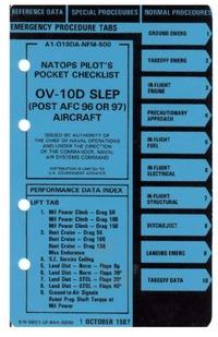 A1-010DA-NFM-500 Natops Pilot's Pocket Checklist OV10D SLEP